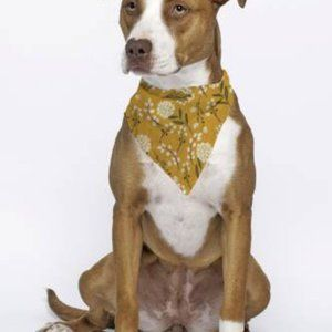 Triangle Bandana For Dog or Cat Yellow Florals